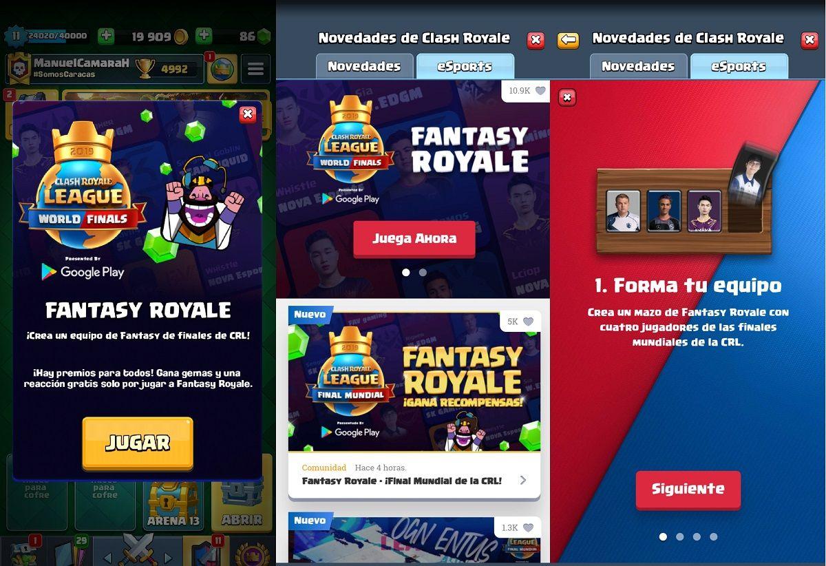 Cuales son los premios del Fantasy Royale de Clash Royale