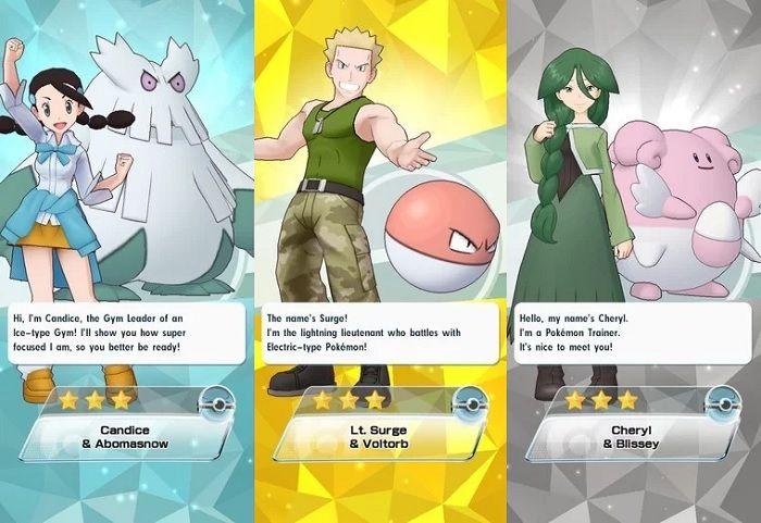 Cuales son todos los compis en Pokémon Masters