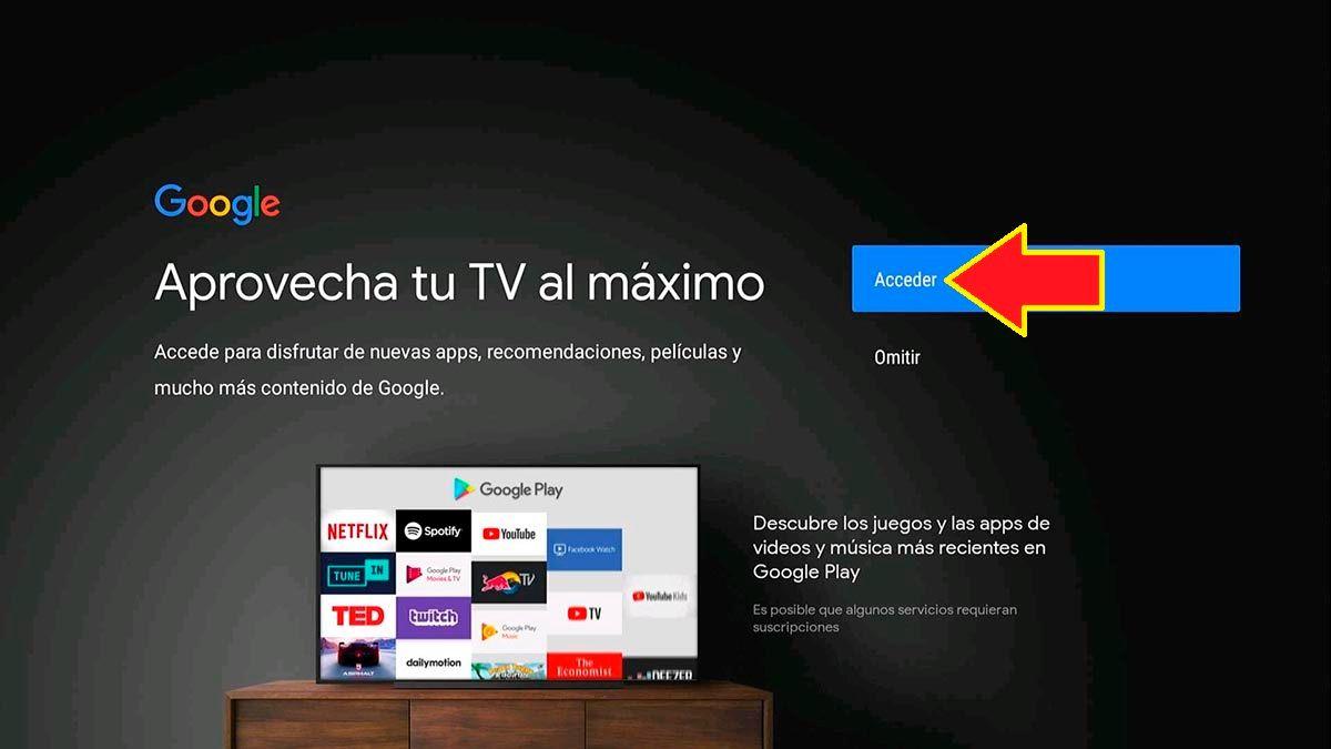 Cuenta de Google Android TV