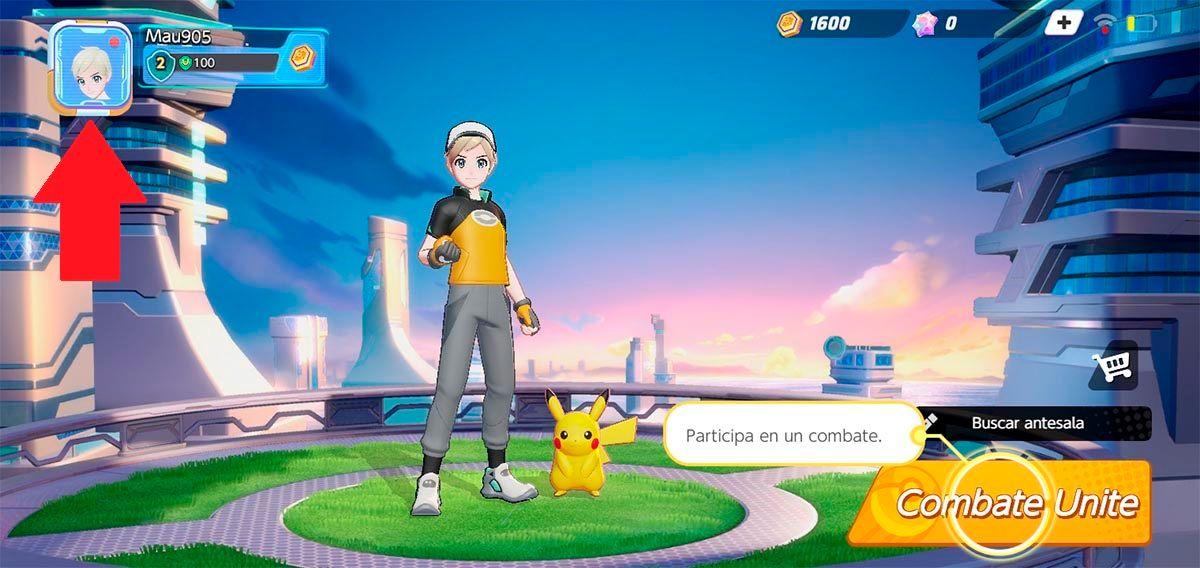 Cuenta de Pokemon UNITE
