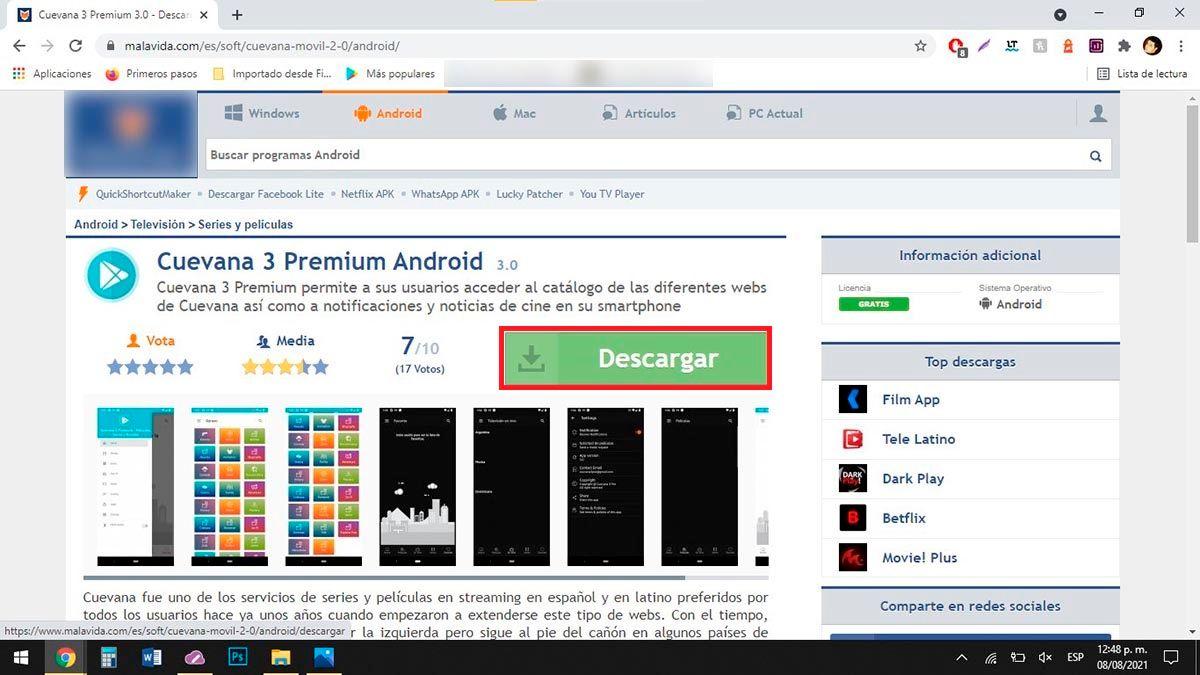 Cuevana 3 Premium para PC