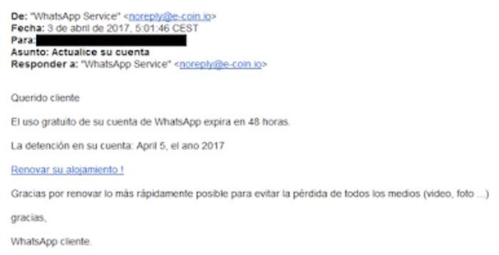 Cuidado con el falso WhatsApp Web