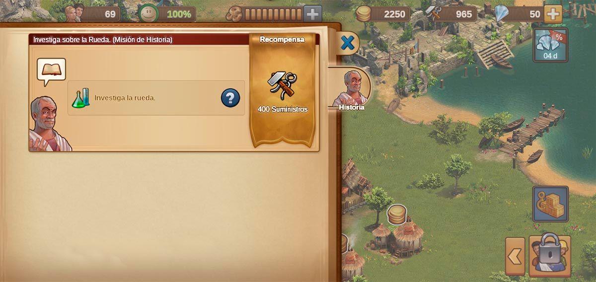 Cumplir misiones historia Forge of Empires