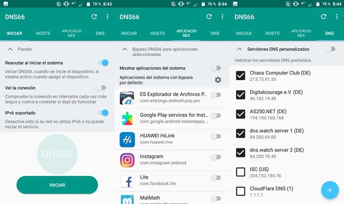 DNS66 mejor app bloqueadora de anuncios