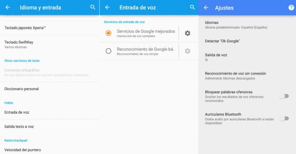 Desactivar el bloqueo de palabras ofensivas en Android