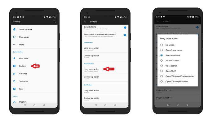 Desativar o botão de suporte do Assistente do Google