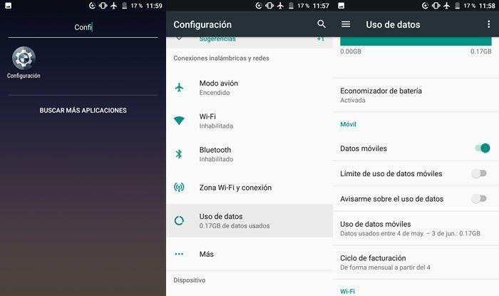Desactivar limite de uso de datos moviles android