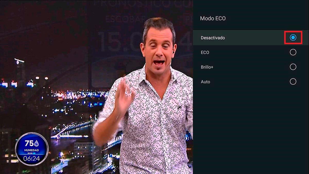 Desactivar modo ECO Android TV TCL