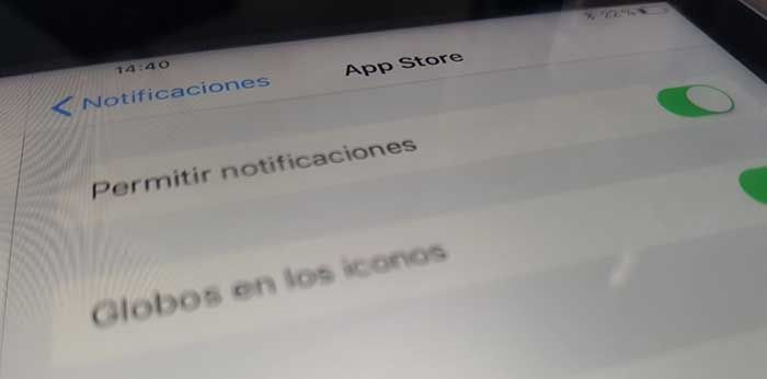 Desactivar notificaciones iPhone 8
