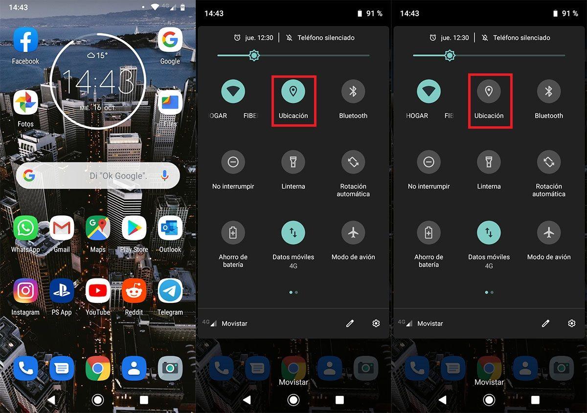 Desactivar ubicacion en movil Android