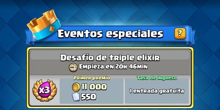 Desafio de triple elixir Clash Royale