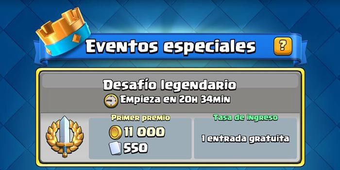 Desafio legendario Clash Royale