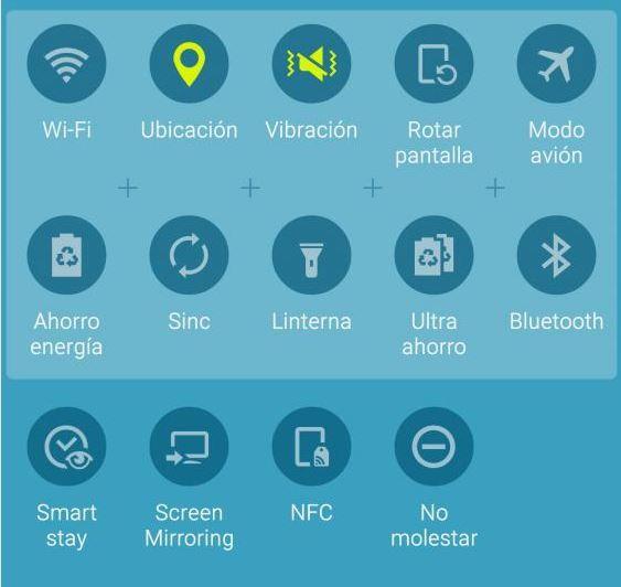 Desaparecen ajustes rápido en el Galaxy S6