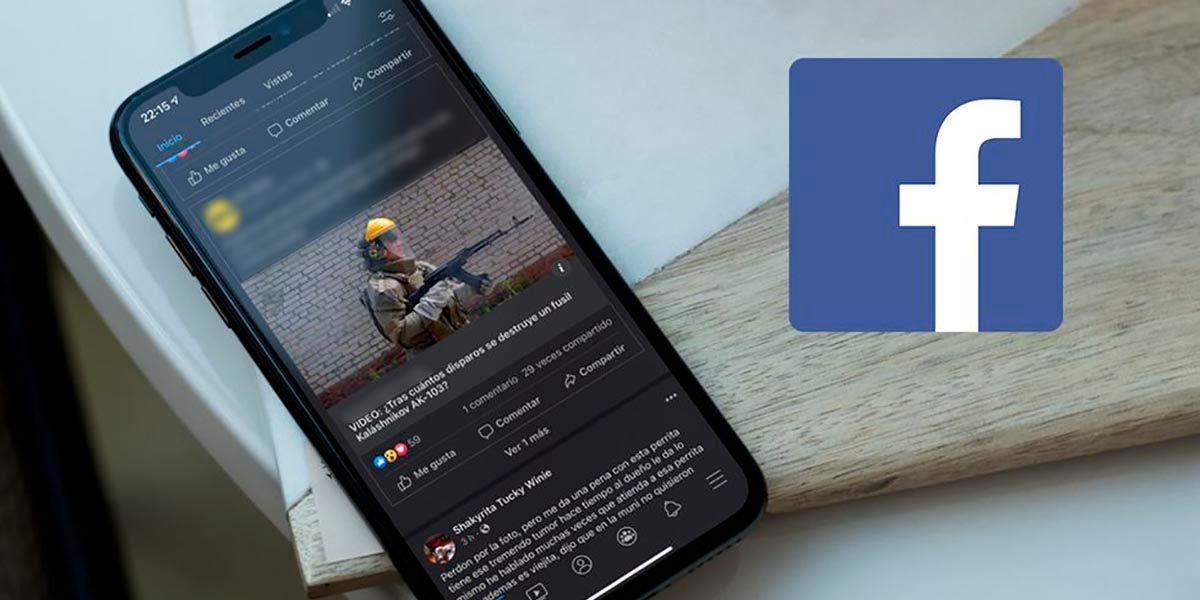 Desaparecio el modo oscuro de Facebook