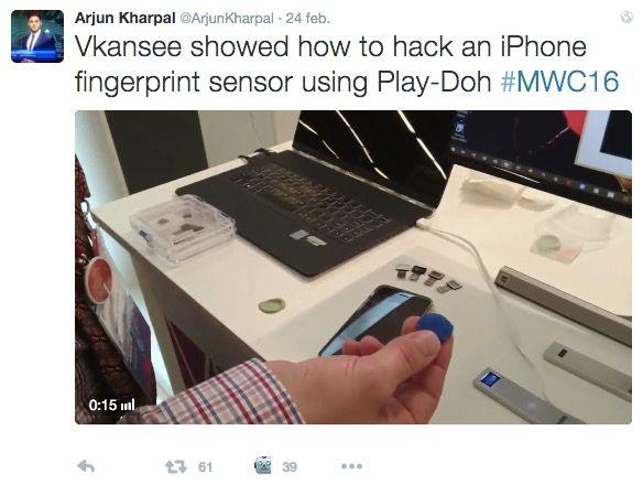 Desbloquean un iPhone con plastilina