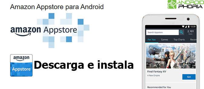 Descarga e instala Amazon Appstore