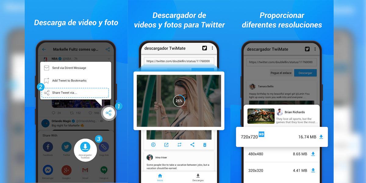 Descarga los vídeos y GIFs de Tuitter que quieras con estas apps para Android