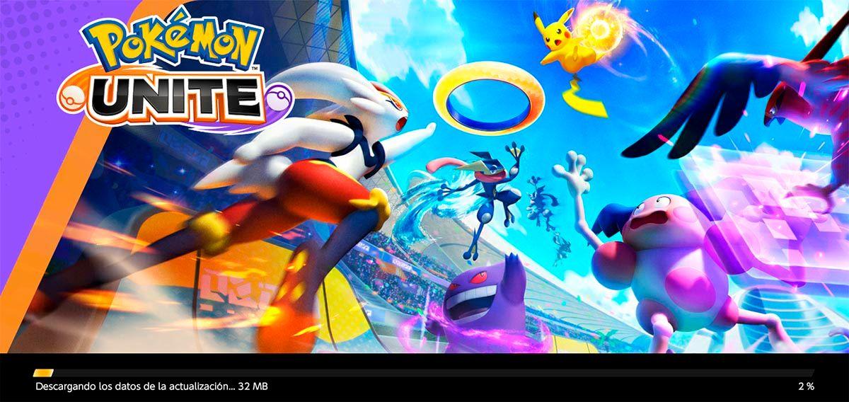 Descargando los datos de la actualizacion Pokemon UNITE
