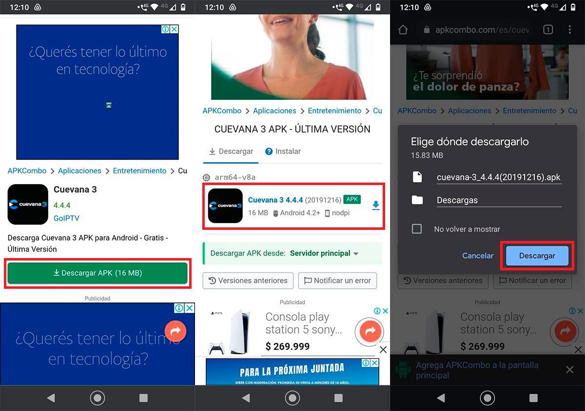 Descargar Cuevana 3 para Smart TV