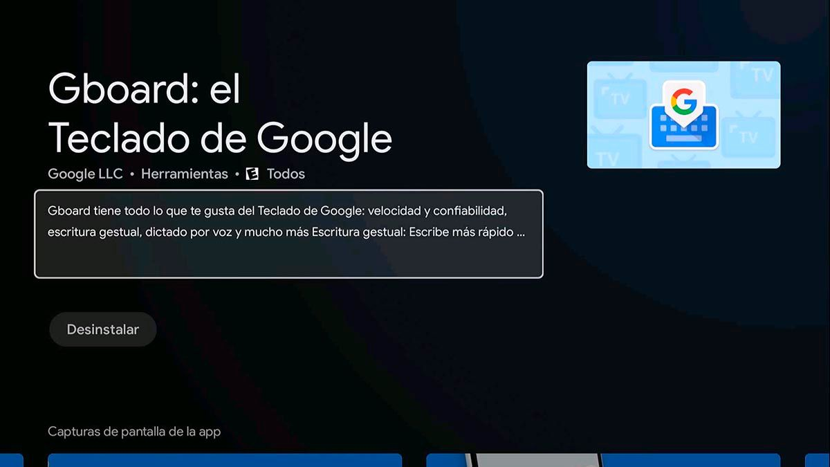 Descargar Gboard en Android™ TV