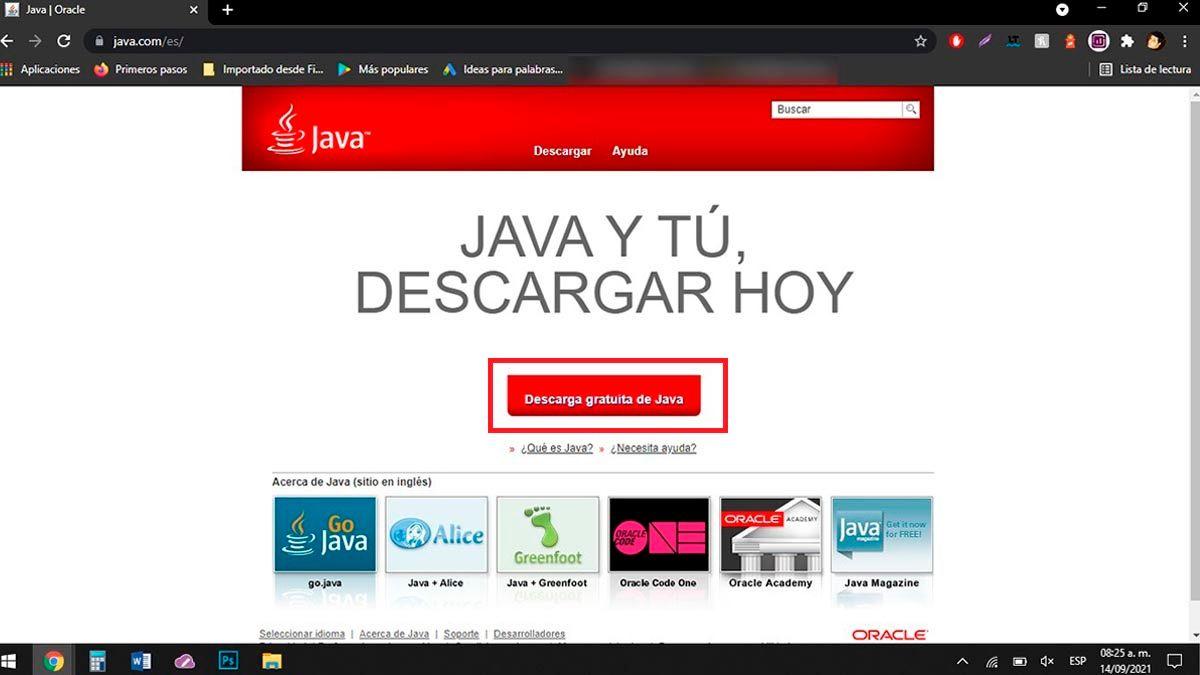 Descargar Java para PC