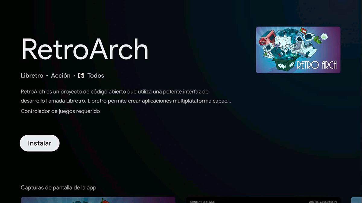 Descargar RetroArch Android TV