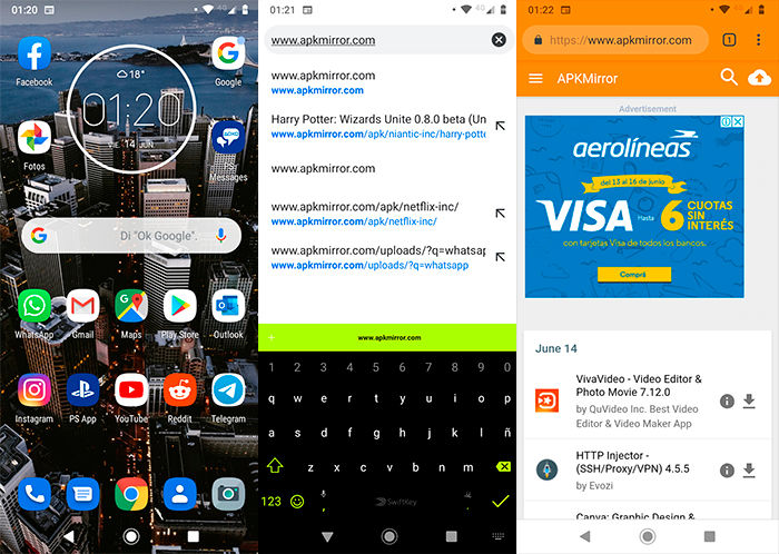 Descargar WhatsApp sin Google Play Store Paso 1