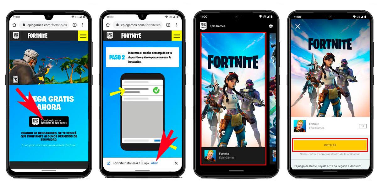 Descargar actualización fortnite android