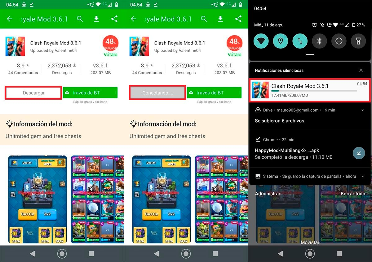 Descargar apps y juegos en HappyMod