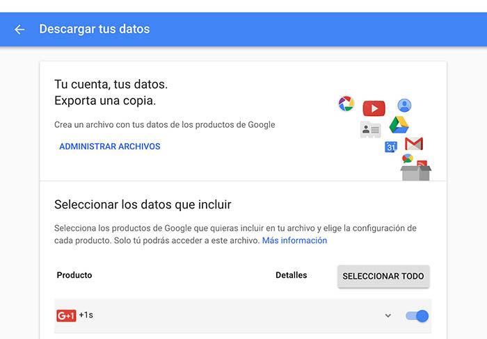 Descargar archivos de Google Plus