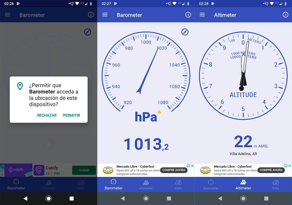 Descargar barometro para Android