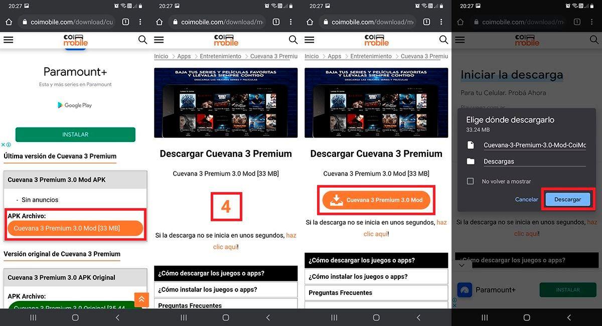 Descargar el APK de Cuevana 3 Premium sin anuncios
