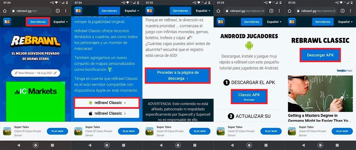 Descargar el APK de reBrawl Classic para Android