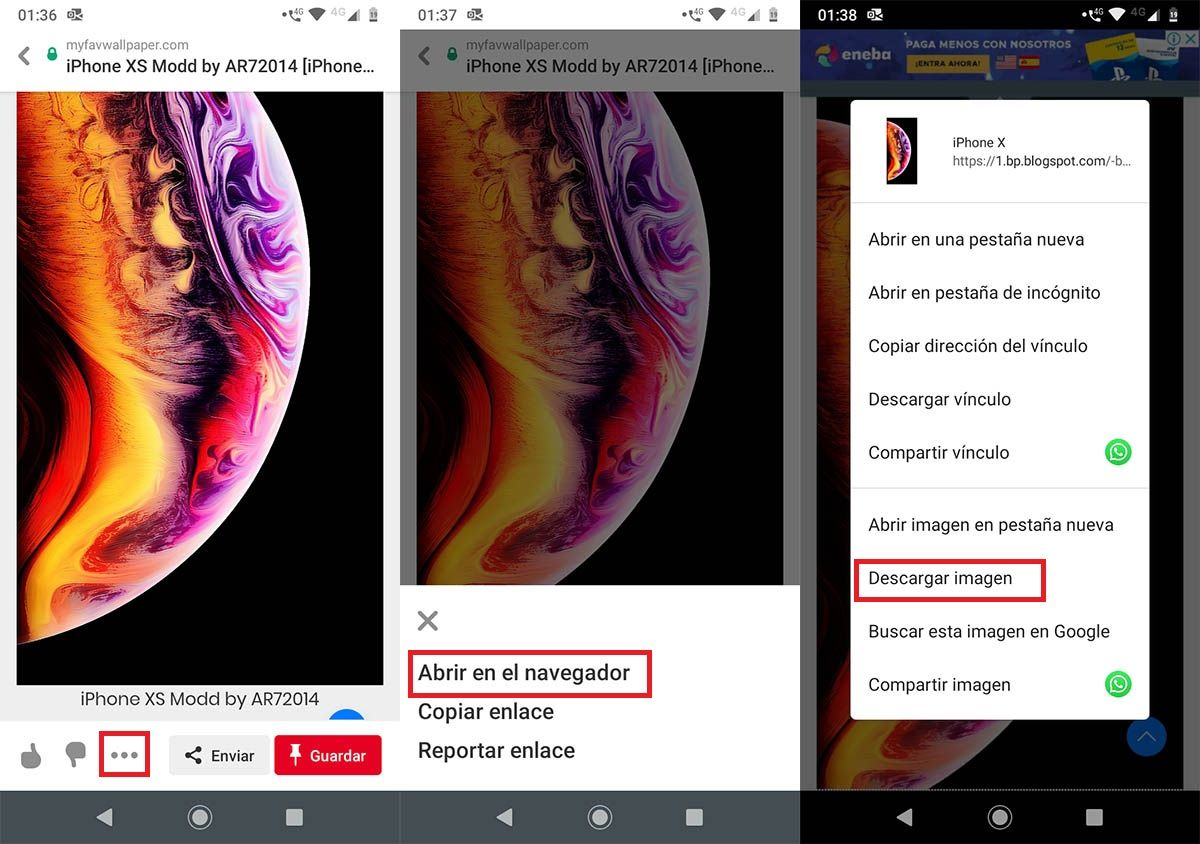 Descargar fondos de pantalla para Android Pinterest