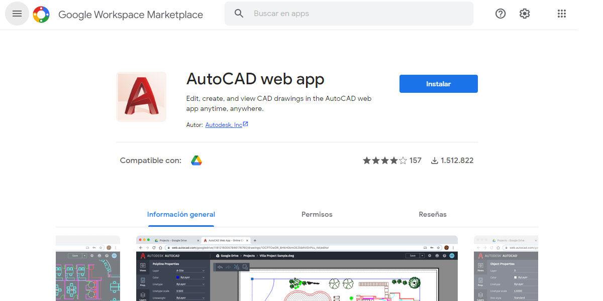 Descargar la extensión de AutoCAD para Google Drive en tu Chromebook