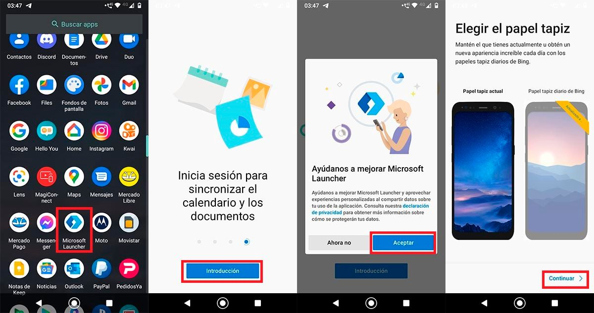 Descargar launcher en Android Go