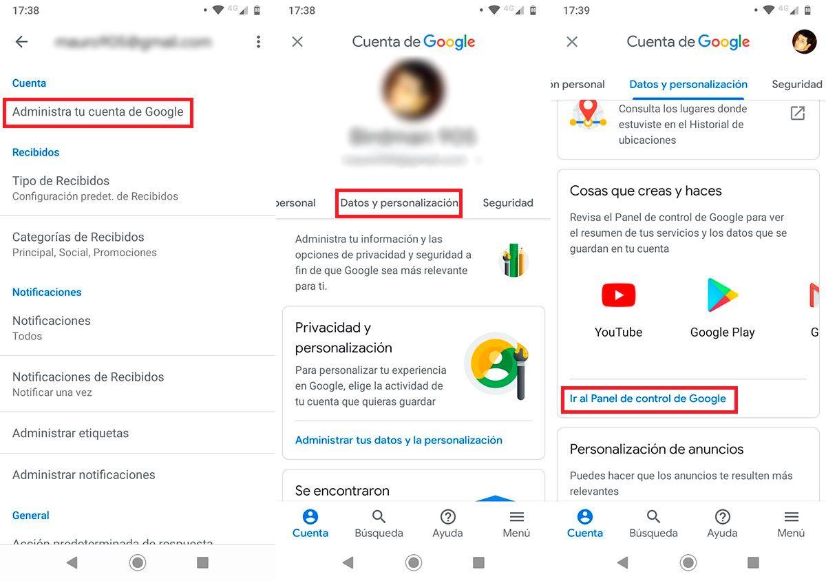 Descargar todos los correos de Gmail Paso 2