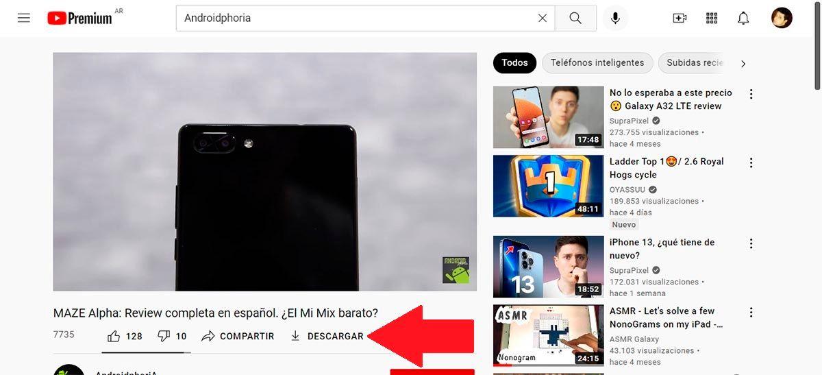 Descargar video de YouTube desde el PC