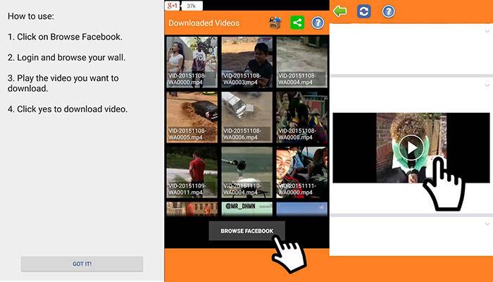 Descargar videos Facebook Android