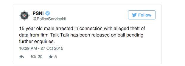 Detienen a un niño de 15 años por un ciberataque a TalkTalk
