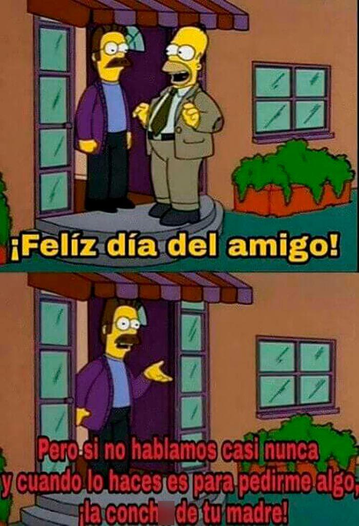 Dia del amigo Meme Los Simpson