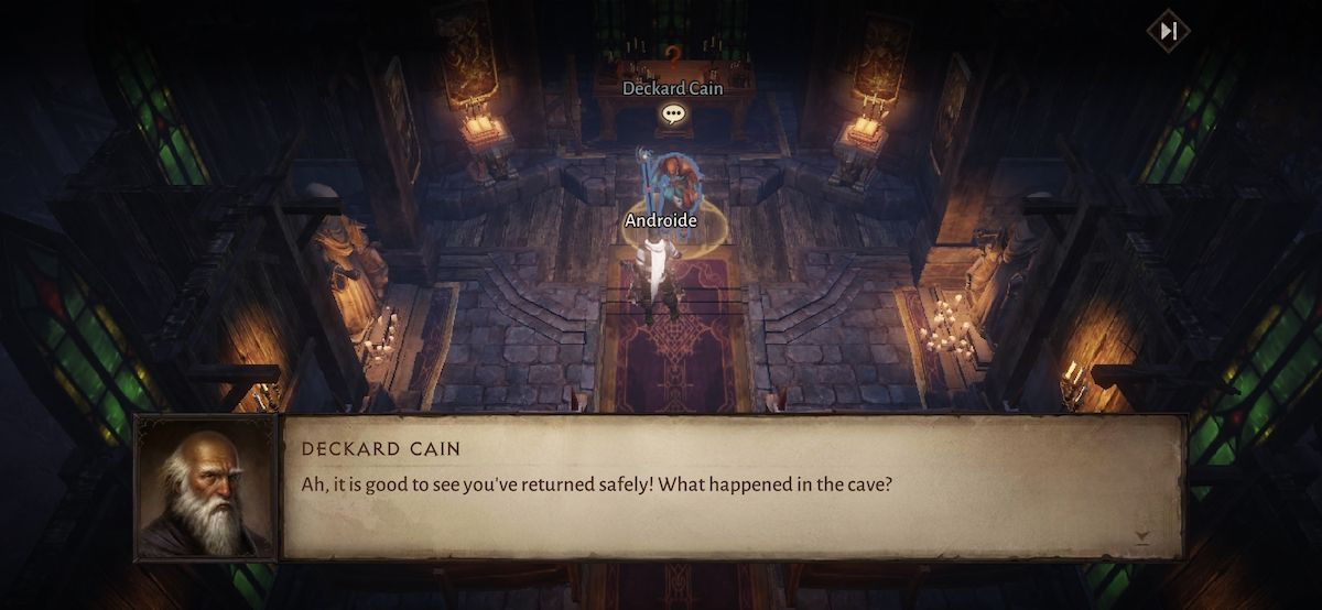 Hablando con NPCs en Diablo Immortal