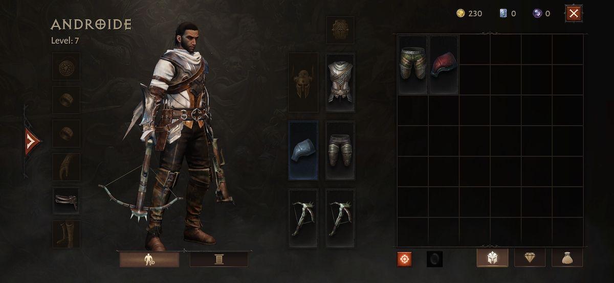 Personalización del personaje el Diablo Immortal