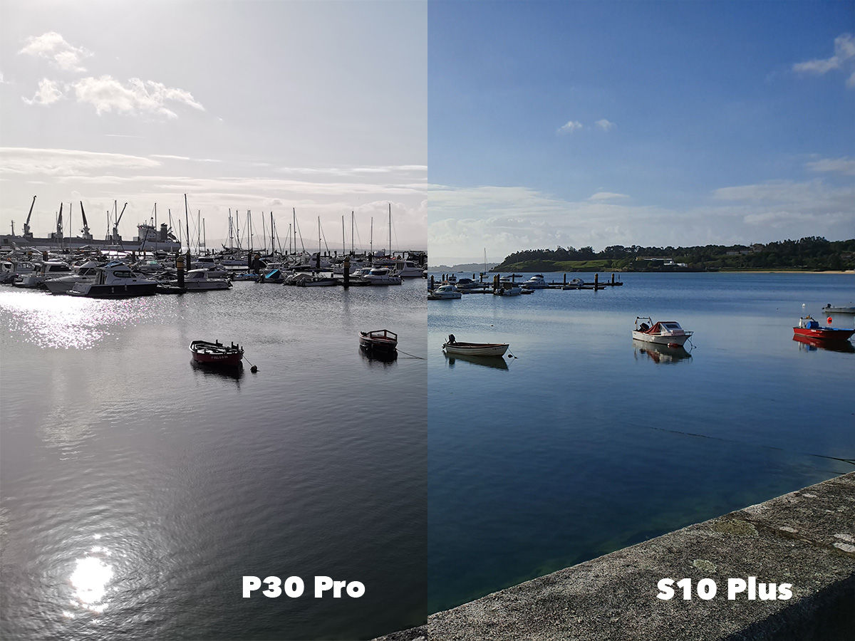 Diferencia color mar P30 Pro vs S10 Plus
