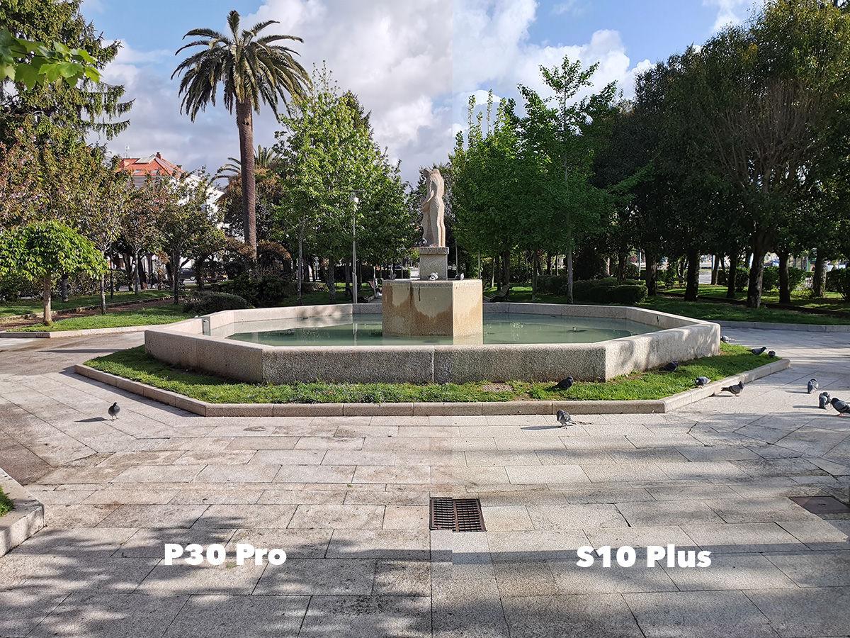 Diferencia parque P30 Pro vs S10 Plus