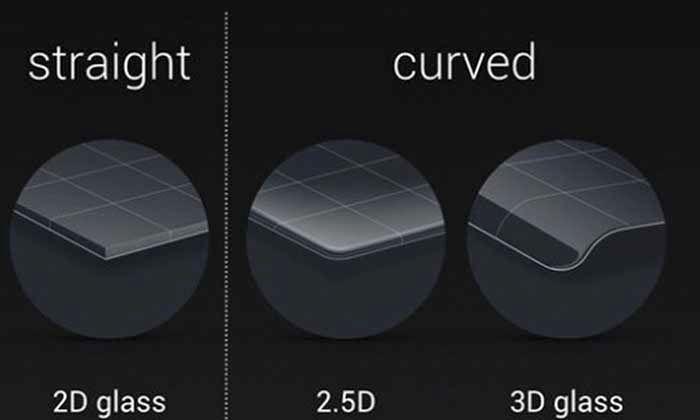 Diferentes cristales curvados