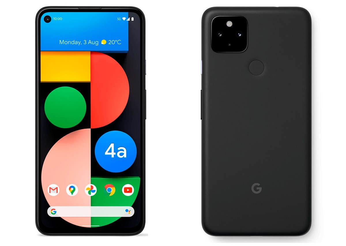 Diseño Google Pixel 4a 5G
