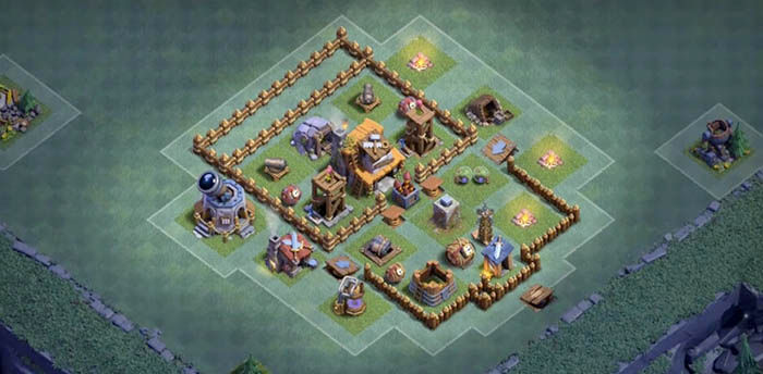 Diseno aldea BH4 Clash of Clans 4