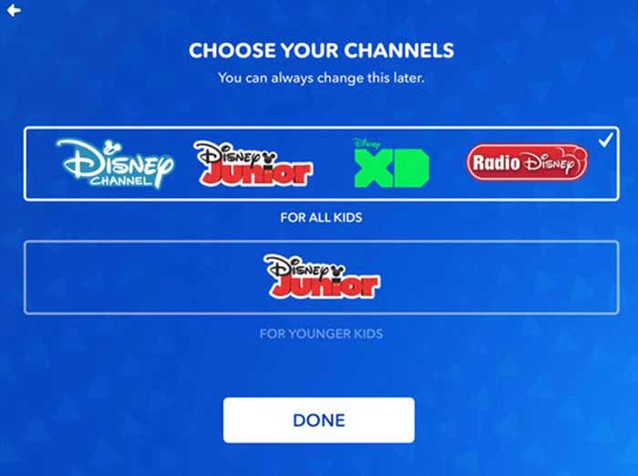 DisneyNow canales