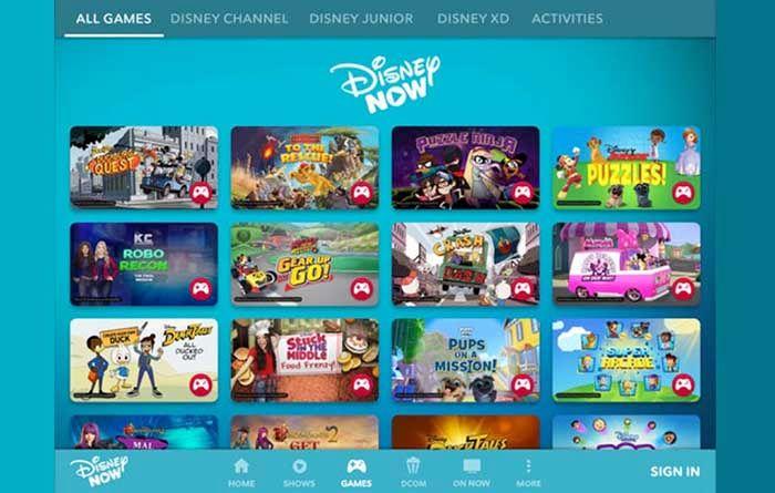 DisneyNow juegos
